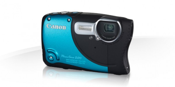 Digitalni fotoaparat CANON PowerShot D20 - modra