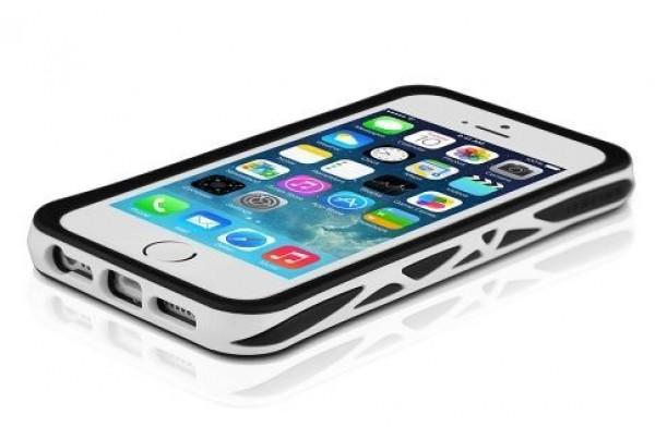 ITSKINS Bumper TPU etui VENUM + zaščita zaslona in hrbta za iPhone 5S/5, črno-bele barve, APH5-VENUM-BKWH - ITSkins