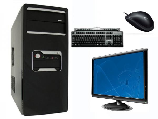 Računalnik PCplus Win Core II + AOC 2236Swa monitor, multimedijska tipkovnica, optična miška