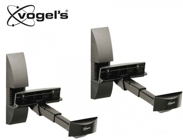 VOGELS VLB200 Stenski nosilec za zvočnik, črne barve (2x)