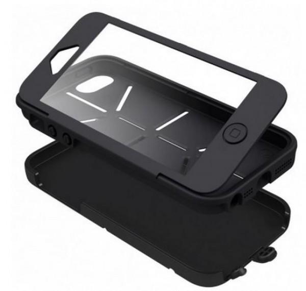 Cygnett Zaščitni vodoodporen etui WORKMATE UTILITY + zaščita zaslona za iPhone 5S/5, črne barve, CY1236CPUTY - Cygnett