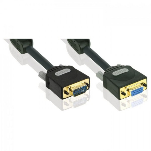 PROFIGOLD VGA Extention Interc 15P HD M - 15P HD F 5.0m - BANDRIDGE