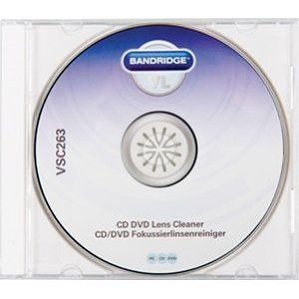 Bandridge VL CD/DVD Lens Cleaner CD/DVD Cleaner - 1 brush - BANDRIDGE
