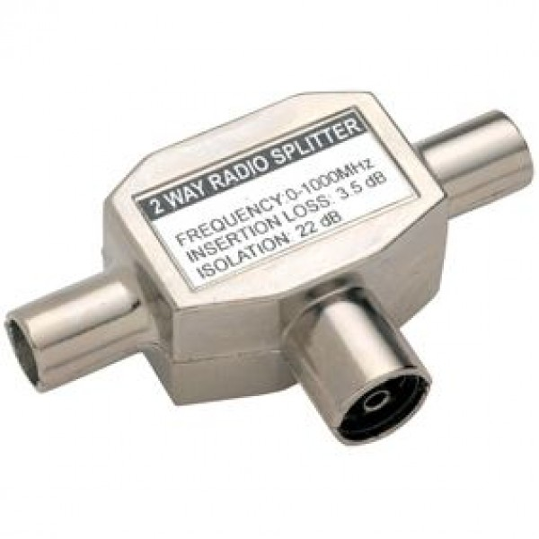 Bandridge Valueline Antenna Splitter Coax F - 2x Coax M - BANDRIDGE