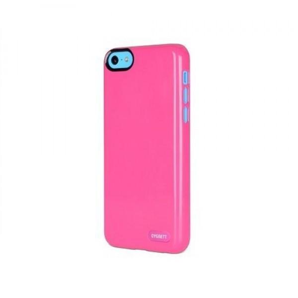 Cygnett Zaščitni svetleč etui FORM + zaščita zaslona za iPhone 5C, roza barve, CY1250CPFOR - Cygnett