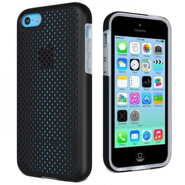 Cygnett Zaščitni PC/TPU etui z luknjicami PERMEATE za iPhone 5C, črne barve, CY1363CPPER - Cygnett