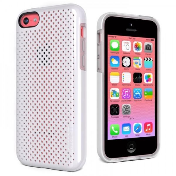 Cygnett Zaščitni PC/TPU etui z luknjicami PERMEATE za iPhone 5C, bele barve, CY1364CPPER - Cygnett