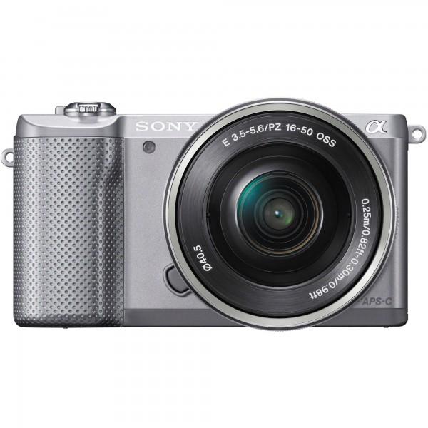 Digitalni fotoaparat Sony Alpha 5000 kit 16-50mm - srebrn