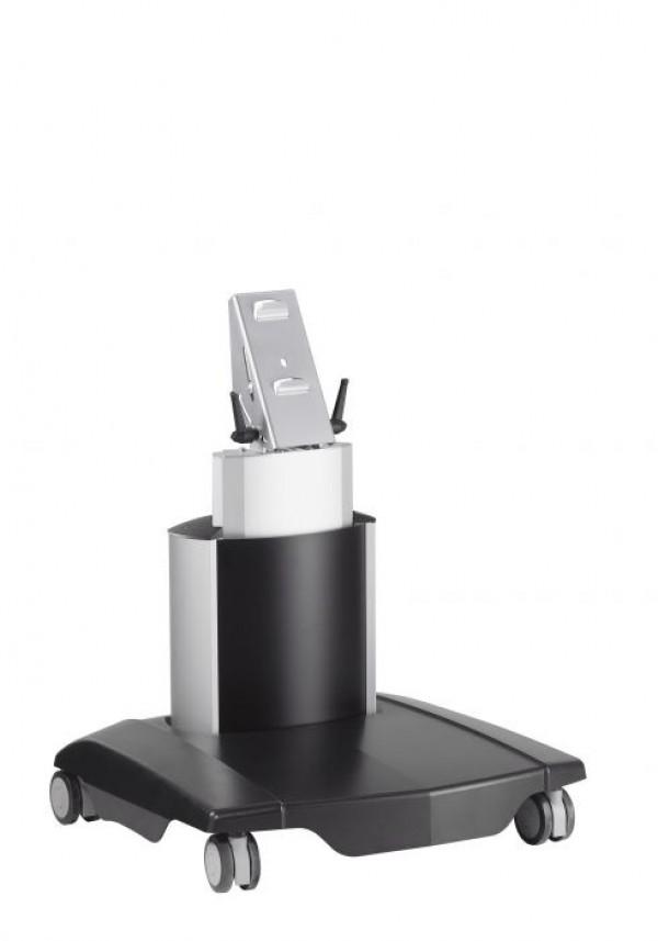 VOGELS PFT 2505 Samostoječi TV voziček do 65'', nastavljive višine (59-64cm), črno-srebrne barve - VOGELS