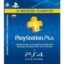 Playstation PS+ kartica 12 mesecev SVN