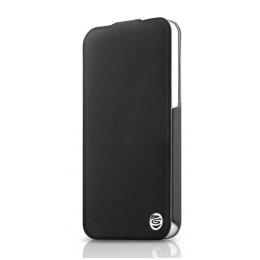 ITSKINS Ultra tanek etui s pokrovom iz EKO usnja in semiša PLUME + zaščita zaslona za iPhone 5S/5, črne barve, APH5-FETHR-BLCK - ITSkins