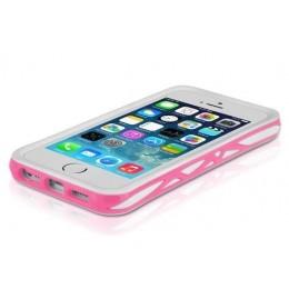 ITSKINS Bumper TPU etui VENUM + zaščita zaslona in hrbta za iPhone 5S/5, belo-roza barve, APH5-VENUM-WHPK - ITSkins