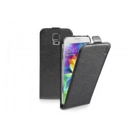 Zaščitni etui s pokončnim pokrovom SBS za Samsung Galaxy S5, črne barve, TEFLIPSAS5K - SBS