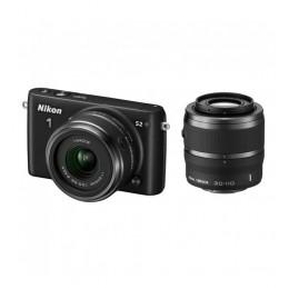Digitalni fotoaparat Nikon 1 S2 kit 11-27,5mm + 30-110mm - črn