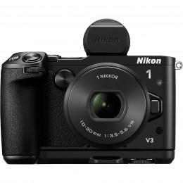 Digitalni fotoaparat Nikon 1 V3 Ročaj + iskalo + 10-30mm PD Zoom - črni