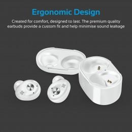 PROMATE PrimeBud TWS Ultra-Mini True brezžične stereo Bluetooth slušalke, bele